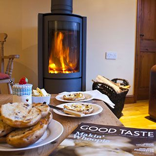 Yew Cottage with a woodburner for cool winter evenings
