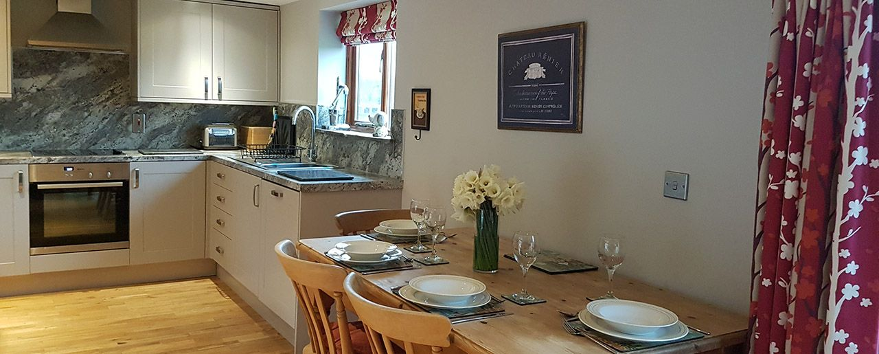 Stay on a Lincolnshire farm in Elm holiday cottage with a styled farmhouse kitchen